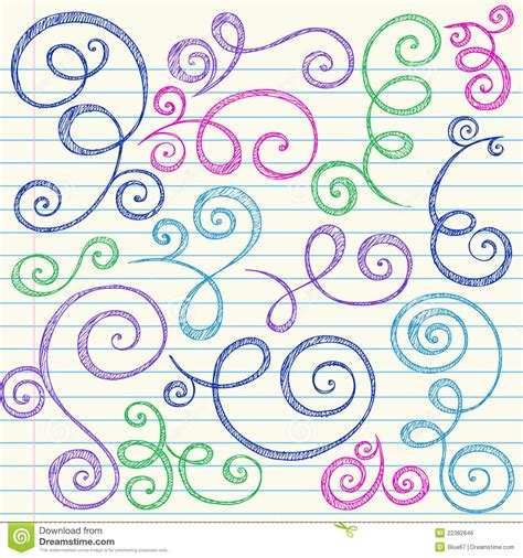 free vector doodle swirls swirls sketchy back to school doodle vector royalty free