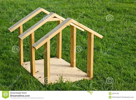 how to build small dog house dog house wood frame royalty free stock images image 25041209