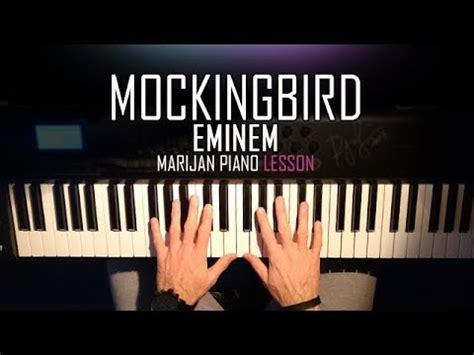 tutorial piano eminem how to play eminem mockingbird piano tutorial lesson