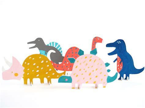Handmade Dinosaur - printable dinosaur cut out toys handmade