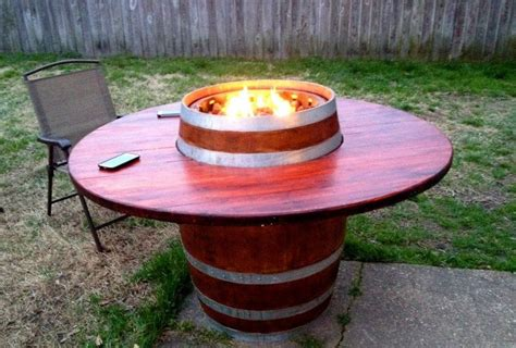17 best images about wine barrel tables on pinterest