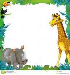 jungle animal templates safari jungle frame border template