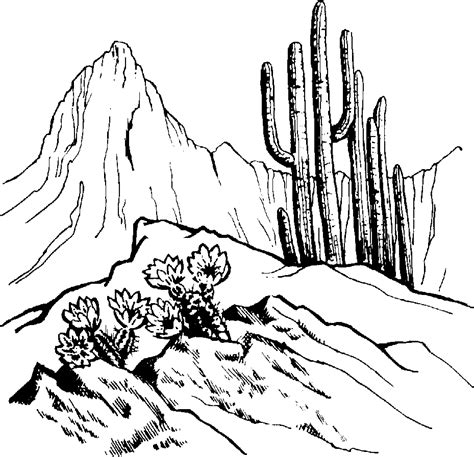 The Outline In Color by Mountain Black And White Black And White Mountain Scenery Clipart Cliparts And Others
