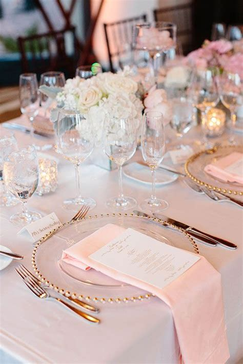 white and gold table 25 best pink table settings ideas on