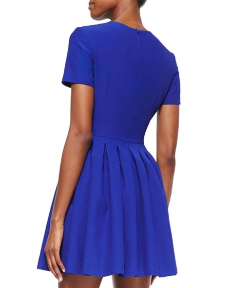 Who Wore It Better Cap Sleeve Mini Dress by Mcqueen Cap Sleeve Pleated Mini Dress