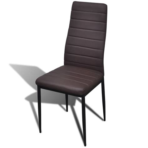 sedie da tavolo sedia da tavola marrone linea sottile 2 pz vidaxl it