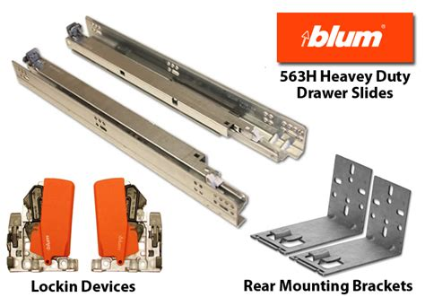 Soft Drawer Runners Blum by Blum 563h Blumotion Soft Drawer Slides 9 Quot 12 Quot 15