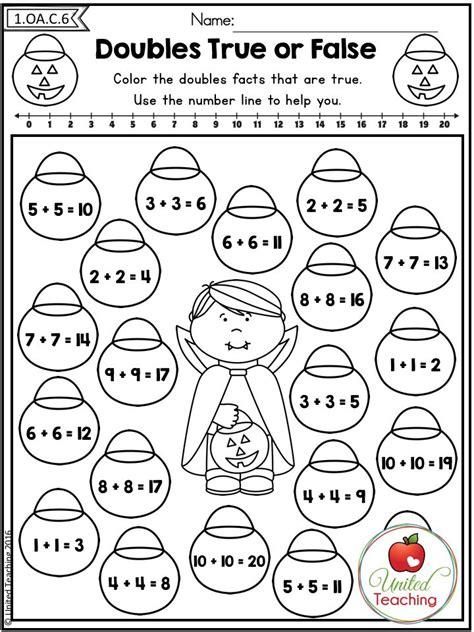 math worksheets grade 1 adding doubles homeshealth info