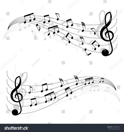 dark color musical notes vector two little black musical notes on stock vector 224000749