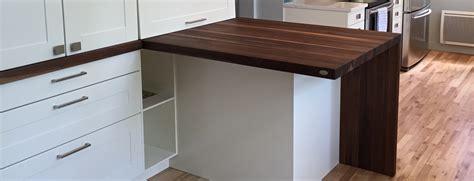 table comptoir table comptoir bloc de boucher et il 244 t en bois massif