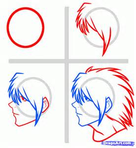 how to draw l lawliet easy note step by step