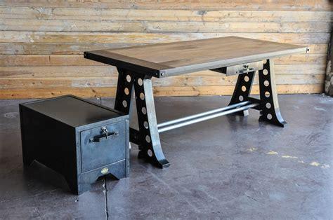vintage industrial desk a frame desk by vintage industrial urban icon