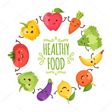 imagenes de comida saludable kawaii saludable alimentos de dibujos animados que representa