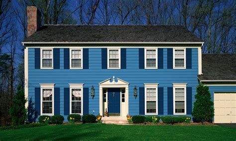 home blue expertly crafted paint schemes for your home exterior