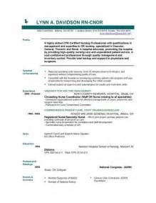 Template For Resume by Nursing Resume Templates Easyjob Easyjob