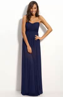 strapless navy blue bridesmaid dresses cherry marry