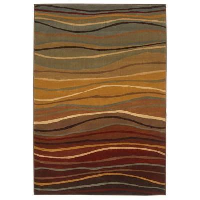 Shaw Area Rugs Home Depot Shaw Living Wavy Stripes Multi 7 Ft 8 In X 5 Ft 5 In Area Rug 3u18863440 At The Home Depot