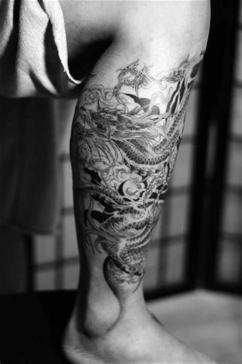 dragon tattoo on leg design design ideas for design on leg