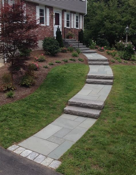 landscaping walkway to front door entrances and steps landscaping in ma path