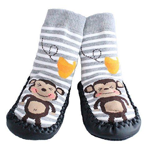 sock top slippers toddlers baby boys moccasins anti skid indoor shoes socks
