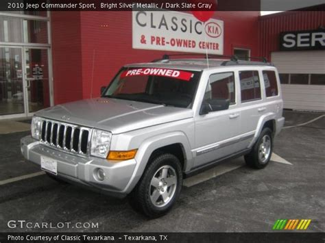 2010 jeep commander silver bright silver metallic 2010 jeep commander sport