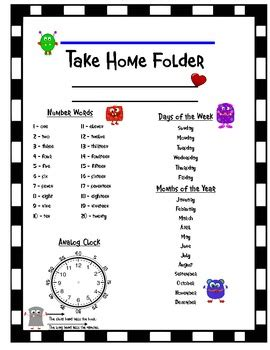 take home folder cover page by falusi s fabulous firsties