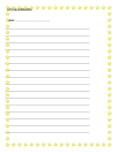 lined paper with simple border very simple lined paper with star border by landoflearning