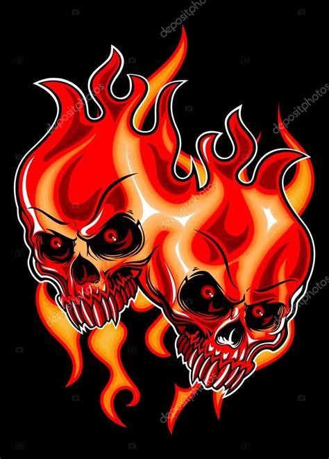 quiero descargar imagenes de calaveras gemelos calavera en llamas archivo im 225 genes vectoriales