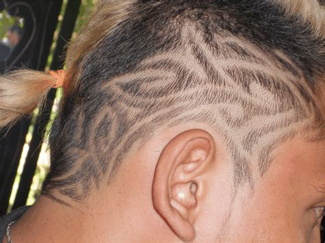 tribal hair tattoo best hair tribal design tattooed images