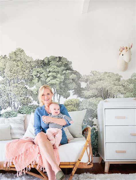 emily henderson nursery a baby s blush and green nursery emily henderson