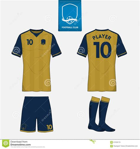 soccer jersey layout football kit template for your sport club stock vector