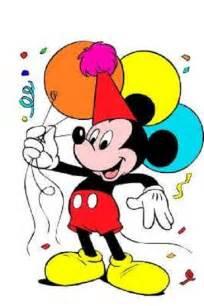mickey mouse happy birthday clipart