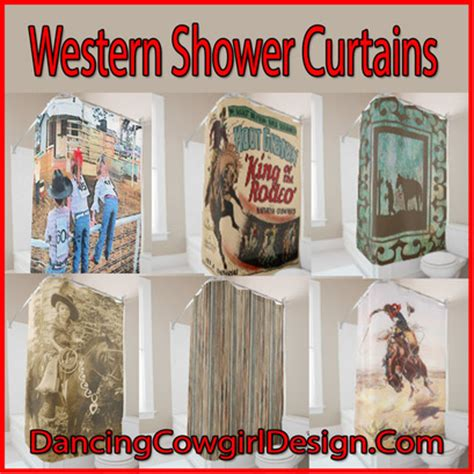 western shower curtains design