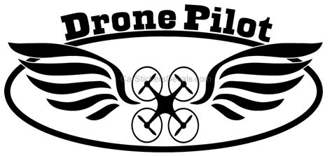 Stiker Drone Pilot stickers drone stickers drone pilot with