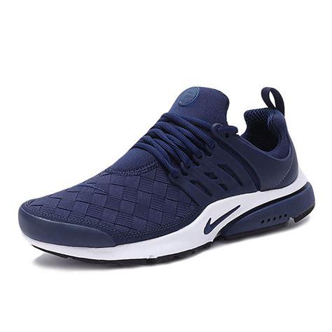 nike presto running shoes mens nike air presto se woven midnight navy running shoes