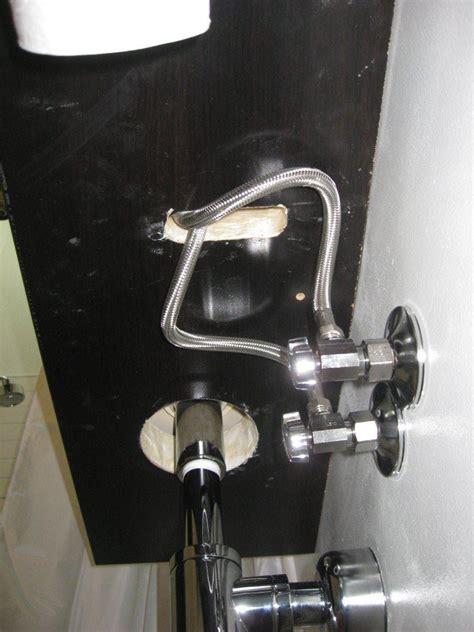 bathroom sink supply lines bath vanity from appliance cabinet ikea hackers ikea