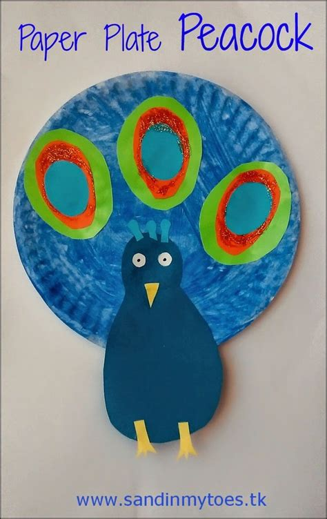 Peacock Paper Plate Craft - busy paper plate peacock peacock crafts peacocks