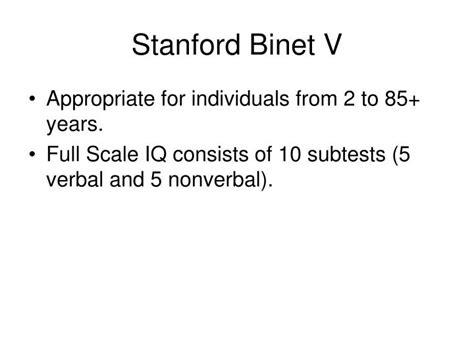 stanford binet sle report ppt stanford binet v powerpoint presentation id 700787