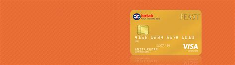 Kotak Mahindra Gift Card - credit card feast gold dining credit card by kotak mahindra bank