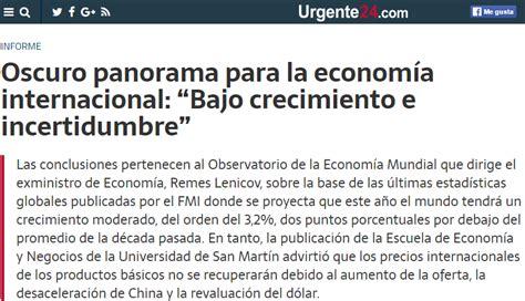 cuanto sera la inflacin en argentina para el 2016 nota de urgente 24 sobre un informe de la unsam acerca de