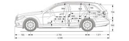 dimensions of e class mercedes estate