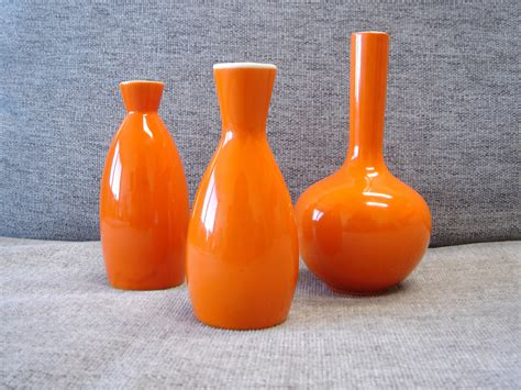 orange vase vases designs orange vases decorative table bowls burnt