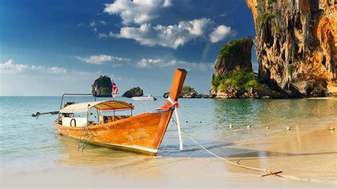 boat browser full screen nature thailand seaside thai sea beaches wallpapers