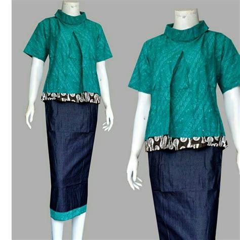 Setelan Baju Lnice 47 1 model baju batik kombinasi setelan rok yang trendi dan 47
