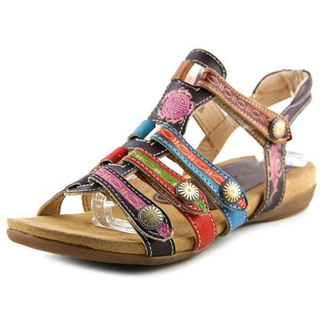 color sandals step nadra leather multi color sandals sandals
