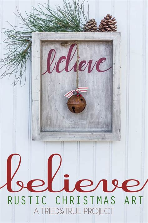 christmas craft show signs quot believe quot rustic tried true