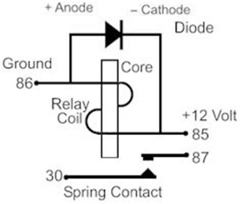diodes on relays 12 volt relay wiring diagram 4 pole motor 12 volt relay operation 12 volt ac relays basic 12