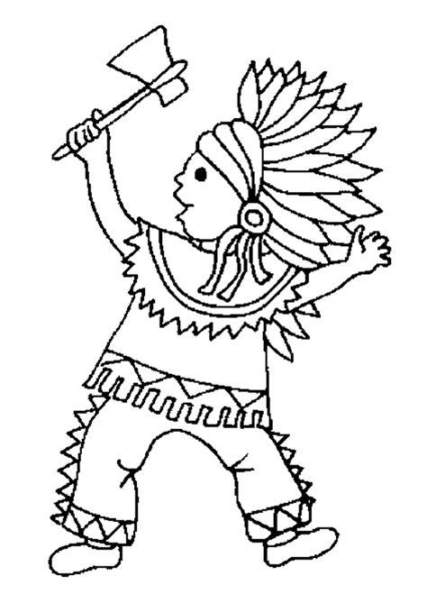 indian themed coloring pages coloriage un petit indien danse hugolescargot com