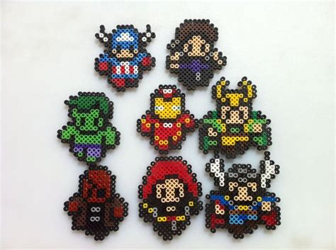 marvel perler marvel mini perler bead sprite character magnets 1