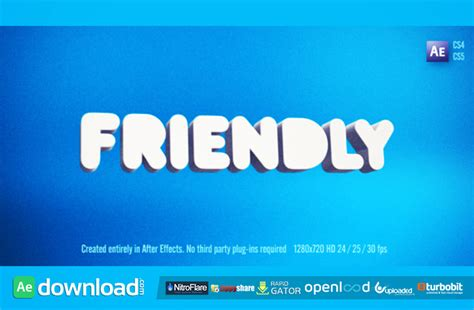 friendly videohive free template free after effects